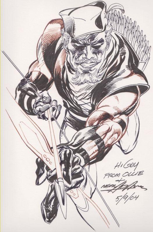Neal Adams-Green Arrow Comic Art
