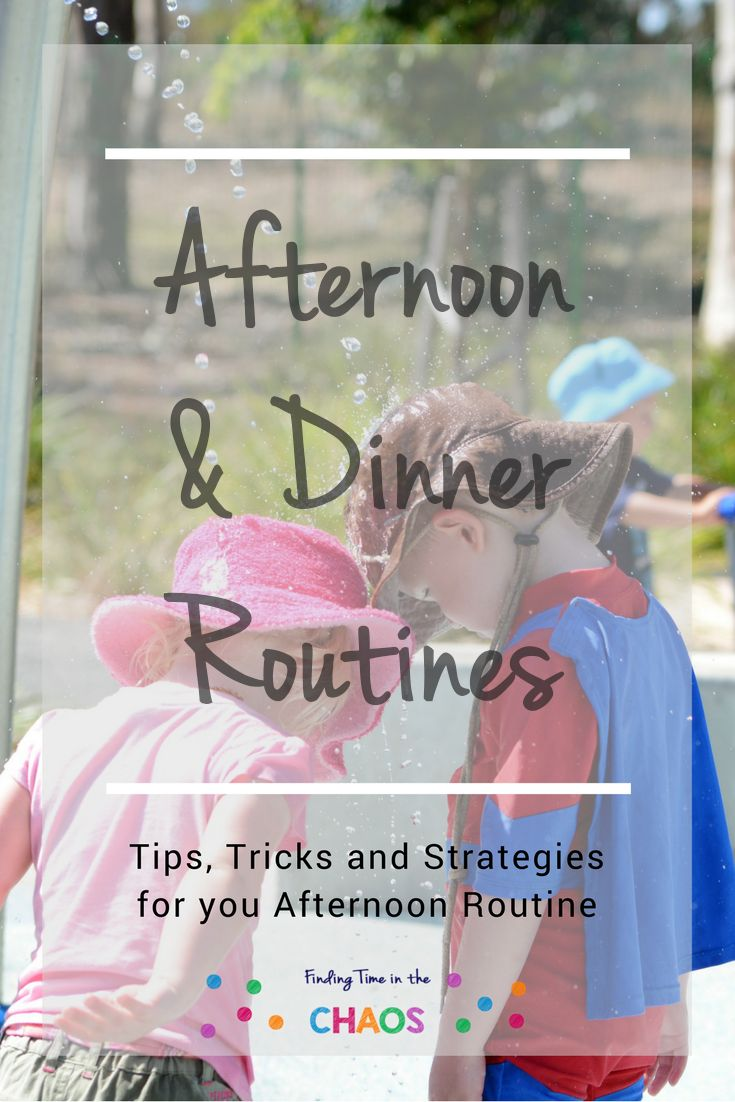 Need help setting up an afternoon routine. Check out http://findingtimeinthechaos.com.au/afternoon-dinner-routine/