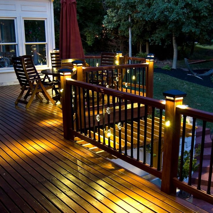 Best Square Single Basket Baluster With Led Lights Back Deck Decorating Deck Balusters Deck Lighting 400 x 300
