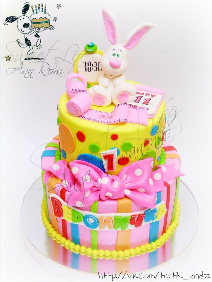 Торт на 1 год для девочек. (подборка) | 146 фотографий