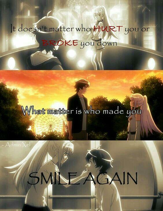 No importa quien te lastimo o te rompió  lo que importa es quien te hizo sonreír de nuevo