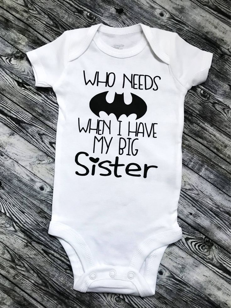 Who Needs Superheros When I've got my Big Sister, Toddler or Infant Unique T-shirt one-piece, bodysuit, creeper, baby girl, baby boy clothing, Batman, this is a personal favorite from my Etsy shop https://www.etsy.com/listing/525195744/who-needs-superheros-when-ive-got-my-big