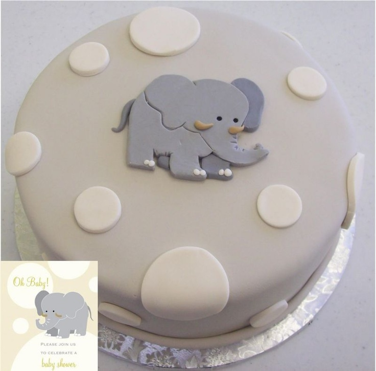 I think this would be cute for my shower...just have it in pink with the gray elephant...