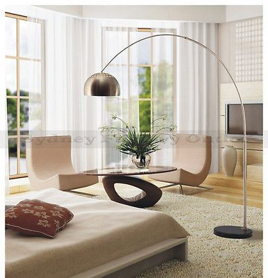 Vintage Modern Retro Arco Floor Lamp Eames Large Black Marble PICKUP