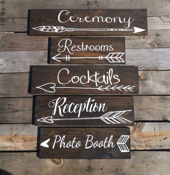 Wegweiser aus Holz, DIY, Hochzeit