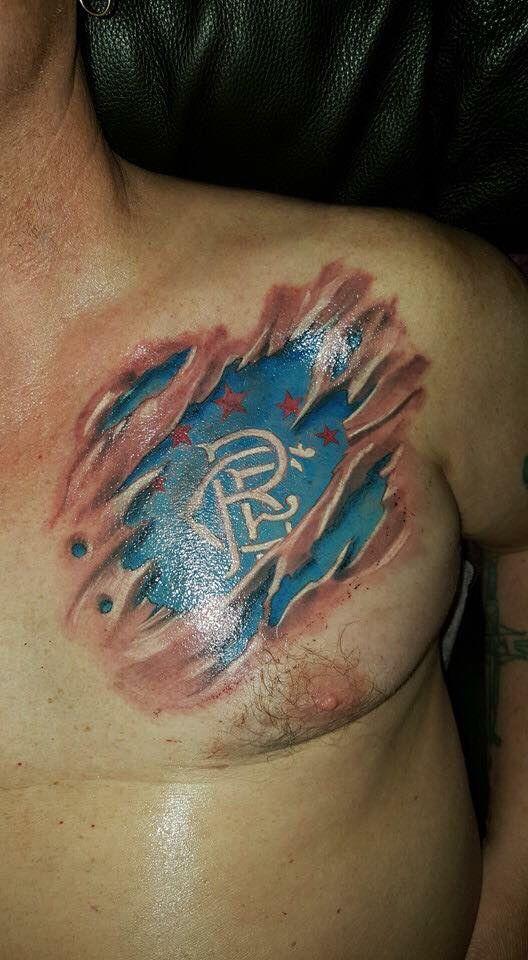 Rangers tattoo | Tattoos for guys | Rangers football ...