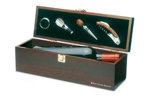 Set de vino en caja de madera COSTIRES