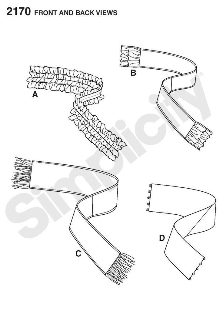 Simplicity pattern 2170: Scarves: