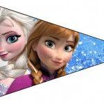 Bandeirinha Frozen Azul e Branco: