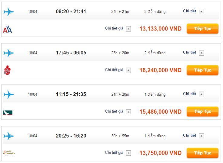 Giá vé máy bay đi New York