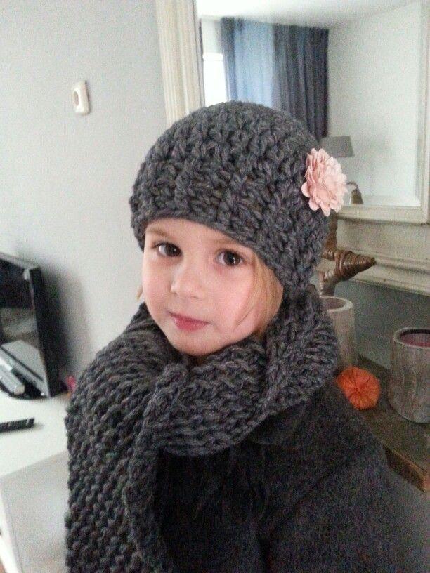 Muts Haken 4 jarige, crochet hat 4 year old