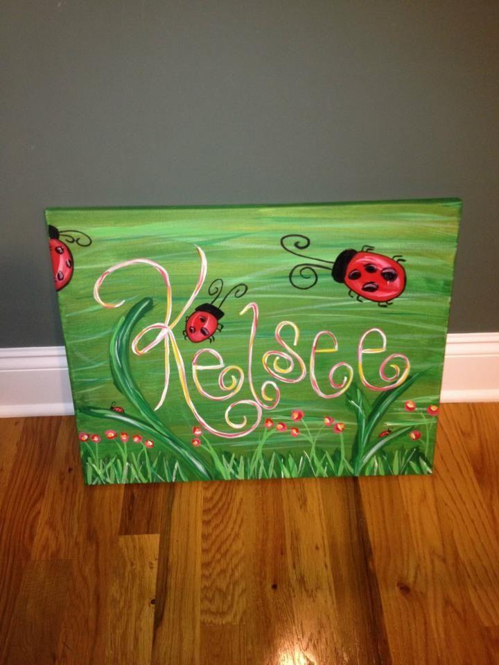 Elementary Girls Canvas Paint Idea