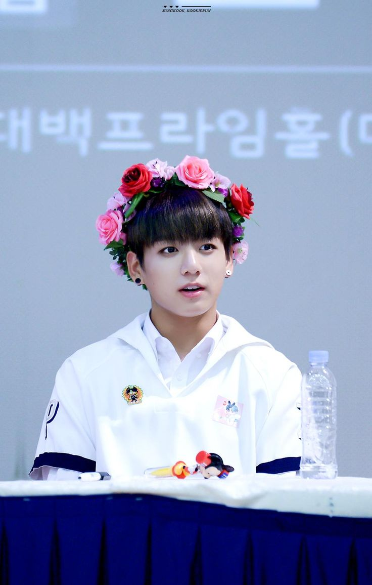 JONGKOOK BTS FLOWER CROWNE | TWITTER DOWNLOAD | Pinterest | BTS ...