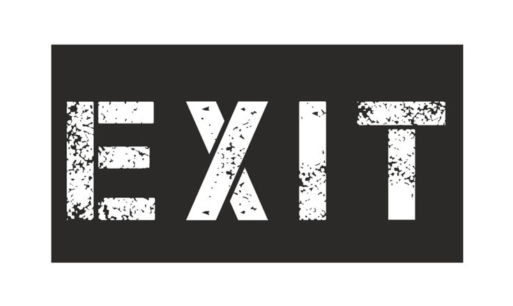 naklejka EXIT od domowa sowa