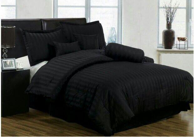 black bedspread