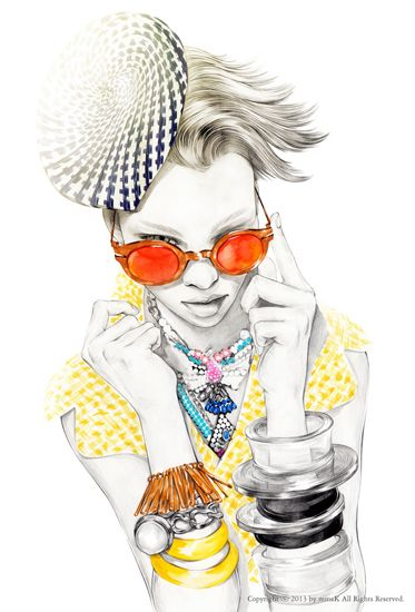 POPOP mina k - fashion illustration