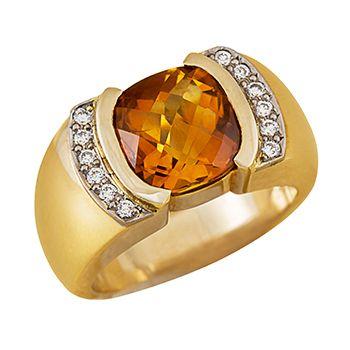 Taylor - citrine and diamonds!