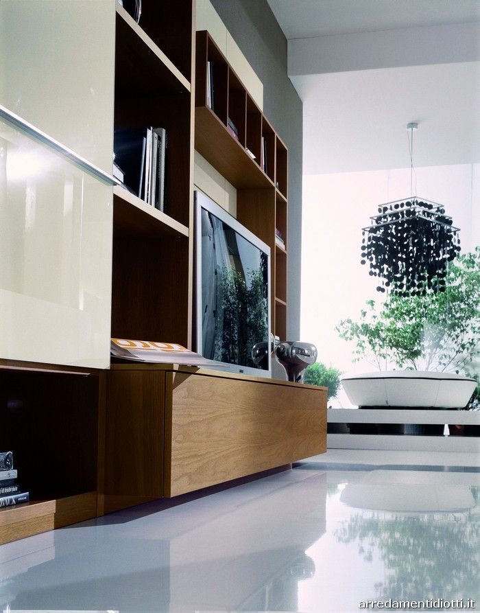 Wall System Link In Walnut And White Laquered   DIOTTI Au0026F Italian  Furniture And Interior Design | Tv Wand | Pinterest | Italian Furniture,  Interior Design ...