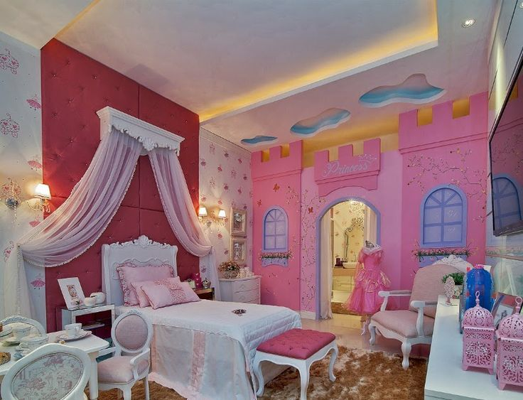 Nos encant esta propuesta recamara kids princesas for Decoracion recamaras
