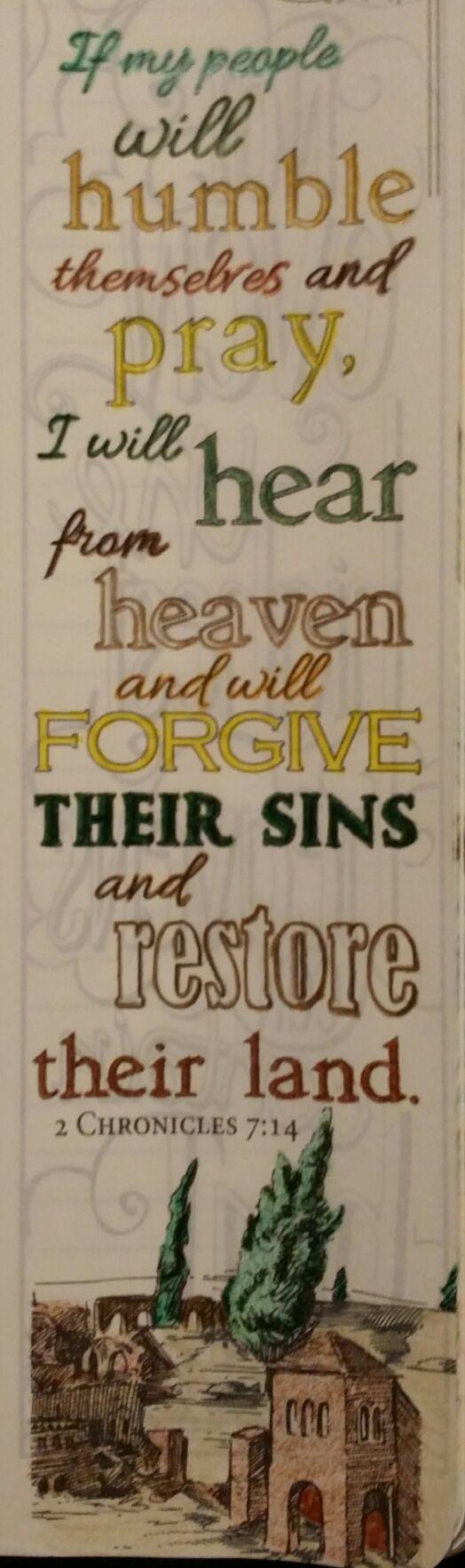 2 Chronicles 7:14 #theinspirebible https://www.youtube.com/watch?v=YdYnGkzA1C8