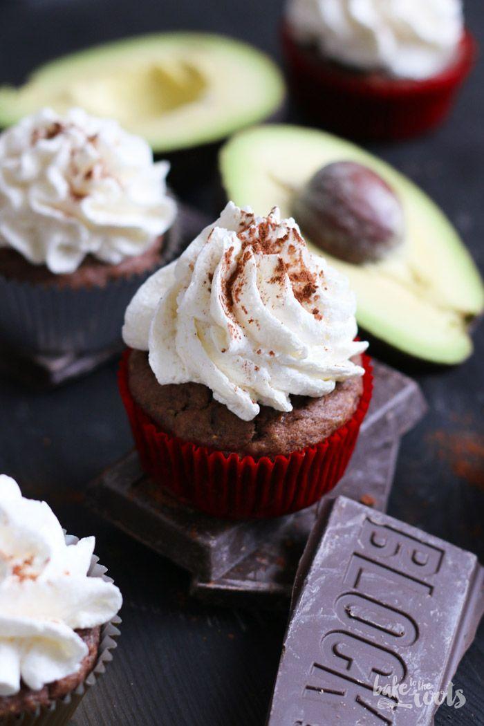 Vegane Avocado Schoko Cupcakes mit veganer Deutscher Buttercreme