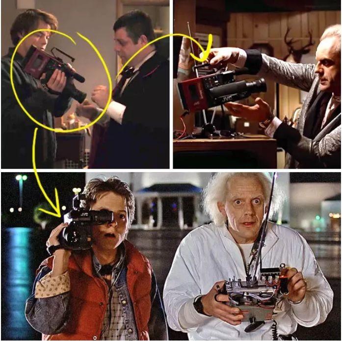 """La cámara de Bob. - Es exactamente el mismo modelo que usa Marty McFly en """"Volver al Futuro"""" para grabar los experimentos de Doc."""