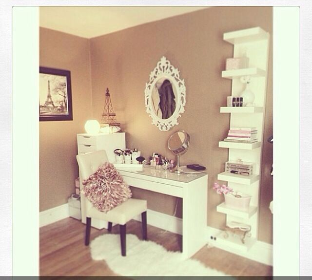 Pin by Smaggle on Organisation  Home Decor Vanity room