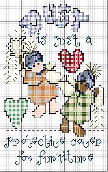 Schema punto croce Dust-heart-1