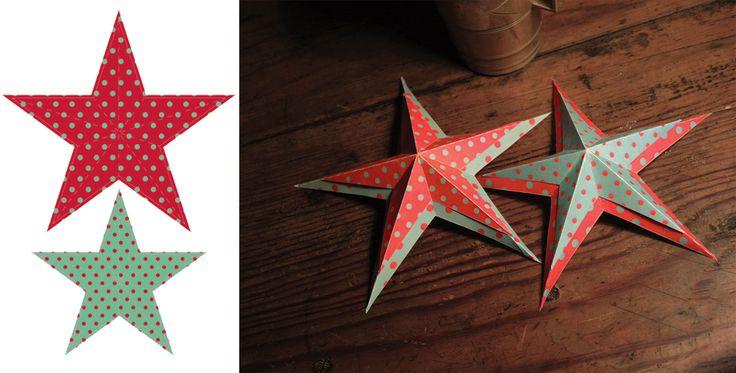 Julstjärnor i vanligt skrivarpapper