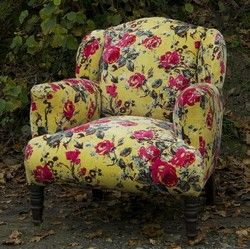 Lime Roses Armchair