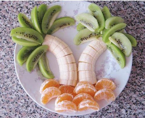 so cute!: Ideas, Recipe, Food, Palm Trees, Fruit Trees, Snacks, Kids, Fruit Trays, Fruit Palms Trees
