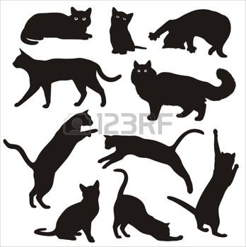 17 meilleures id es propos de tatouages silhouette de chat sur pinterest tatouages de chat - Tatouage silhouette chat ...