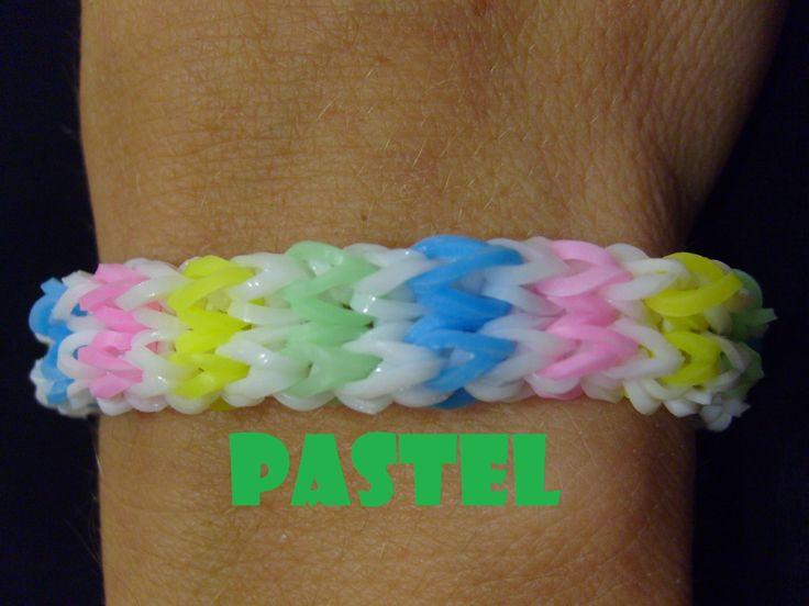 Bracelet elastique Pastel monstertaill, rainbow loom bands tuto francais... Comment fabriquer un bracelet élastique en loom bands avec une machine monstertaill, vous pouvez la remplacer par une machine rainbow loom, Le tuto en Français vous indique comment faire. Très facile ;-) #braceletelastique #rainbowloom