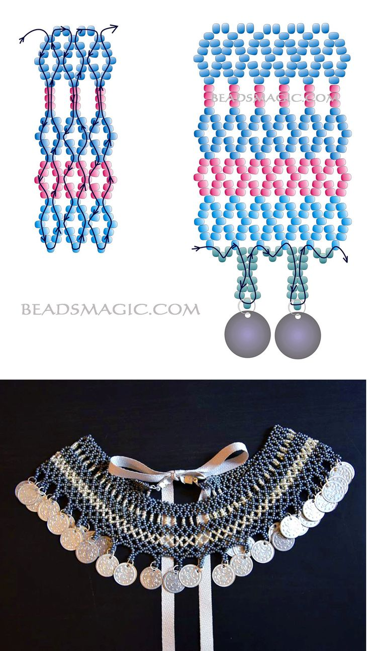 558 best Netted Bead Work Patterns & Tutes images on Pinterest ...