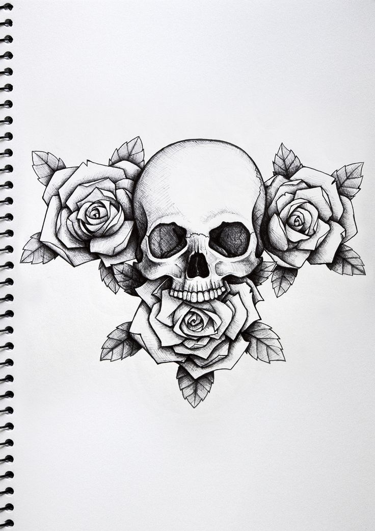 Skull and Roses Tattoo - Nick Davis | Artist