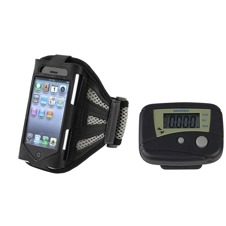 Insten Pedometer/ Armband Phone Case Cover for Apple iPhone 1/ 2/ 3G/ 3GS/ 4/ 4S, #1285112