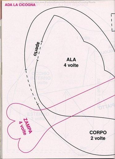 Cicogna... Carta modello 1