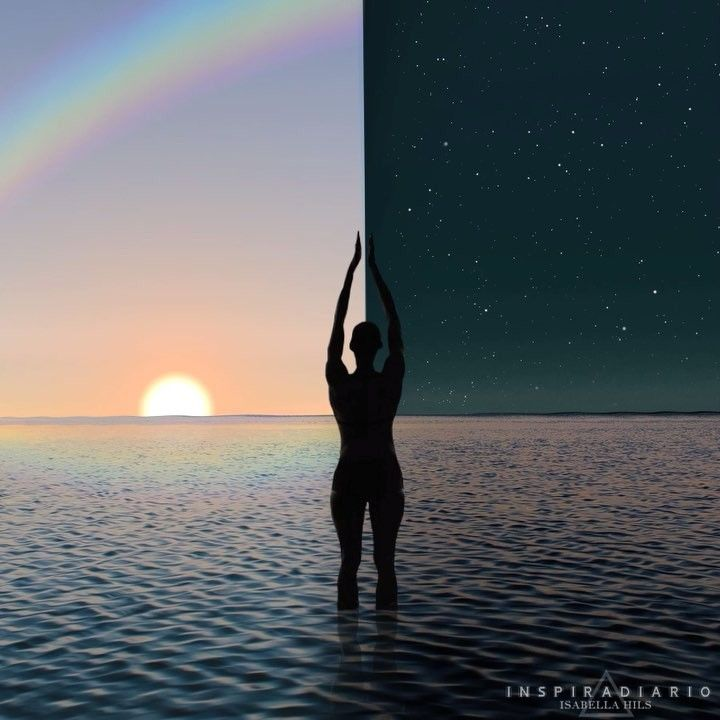 Experimenta la conexión con tu yo interior durante el día, antes de salir a la calle, durante la noche cuando el ruido externo haya cesado o en una pausa donde lo consideres prudente. Contempla al ser puro y simple, encuéntralo en un estado de quietud y de silencio, y ahí donde la consciencia interna se unifica con la consciencia superior, ahí contemplarás al hacedor. 🌠 Música: Steve Anderson  #inspiradiario #consciencia #collage #visual #meditation #spirit #videoart #surreal #mind #energy…