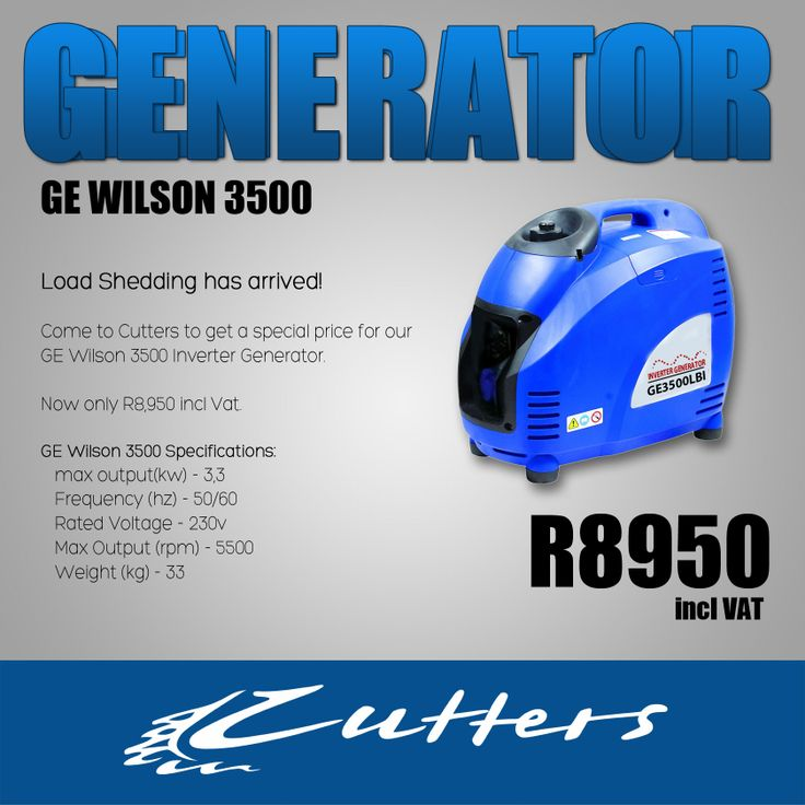 Get a #generator from Cutters today and say goodbye to #loadshedding #capetown
