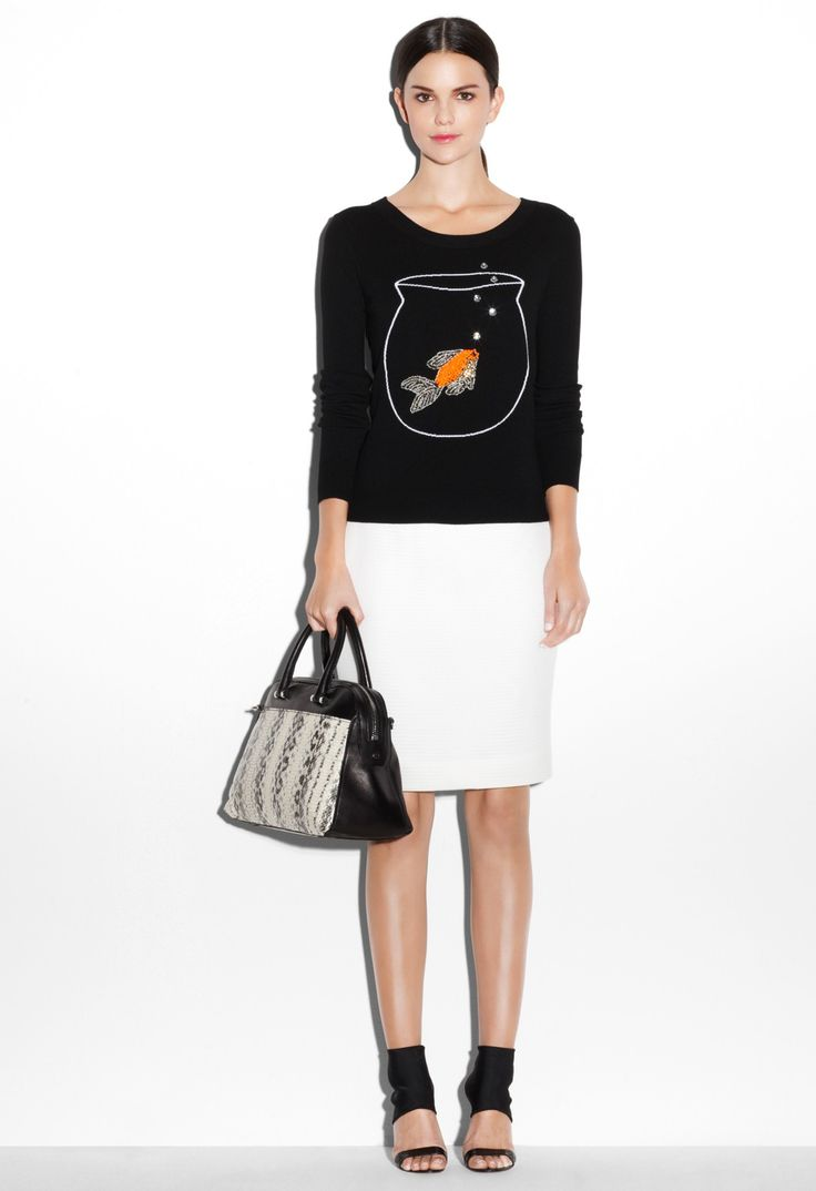 NOVELTY GOLDFISH SWEATER - Sweaters - Shop By Category MILLY NY