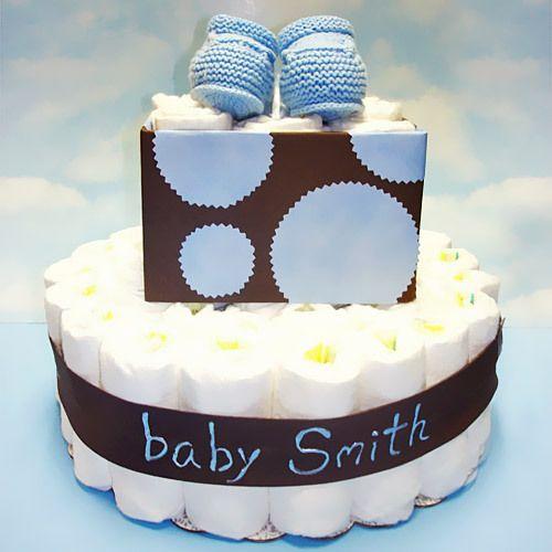 Lunares personalizados tortas de pañales para bebés