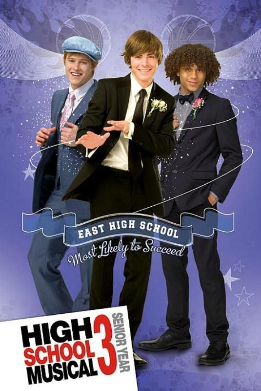 High School Musical 3 : Boys - Maxi Poster 61cm x 91.5cm (new & sealed)