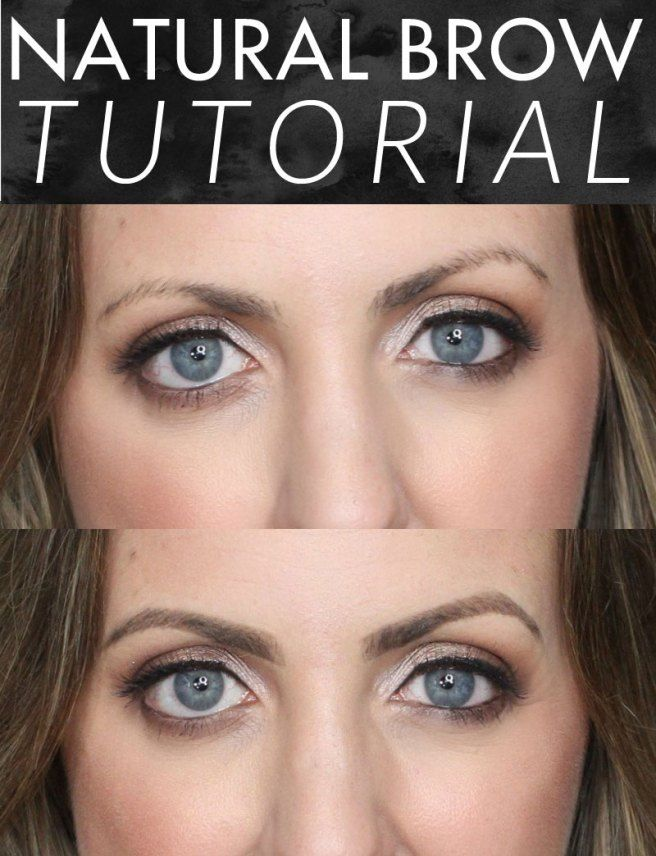 how to draw on eyebrows naturally