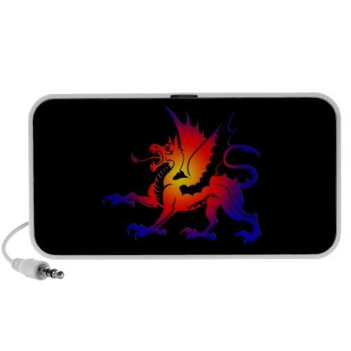 Auto-falante tribal do dragão da cor caixinha de som para mp3