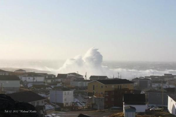 How magnificently scary is this wave?Port-Aux-Basques NL