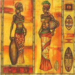 Салфетка для декупажа Африканские женщины, 33х33 купить в инет.магазине