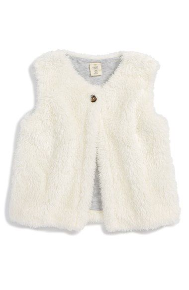 Tucker + Tate Faux Fur Vest (Baby Girls) available at #Nordstrom