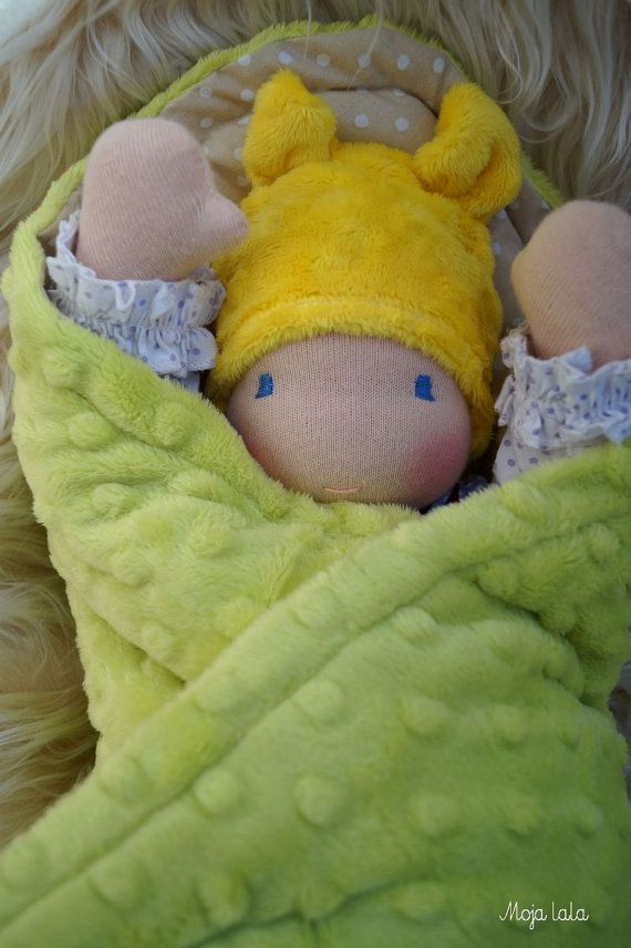 Blanket for doll. Blanket for Baby Waldorf Doll . Size by Mojalala