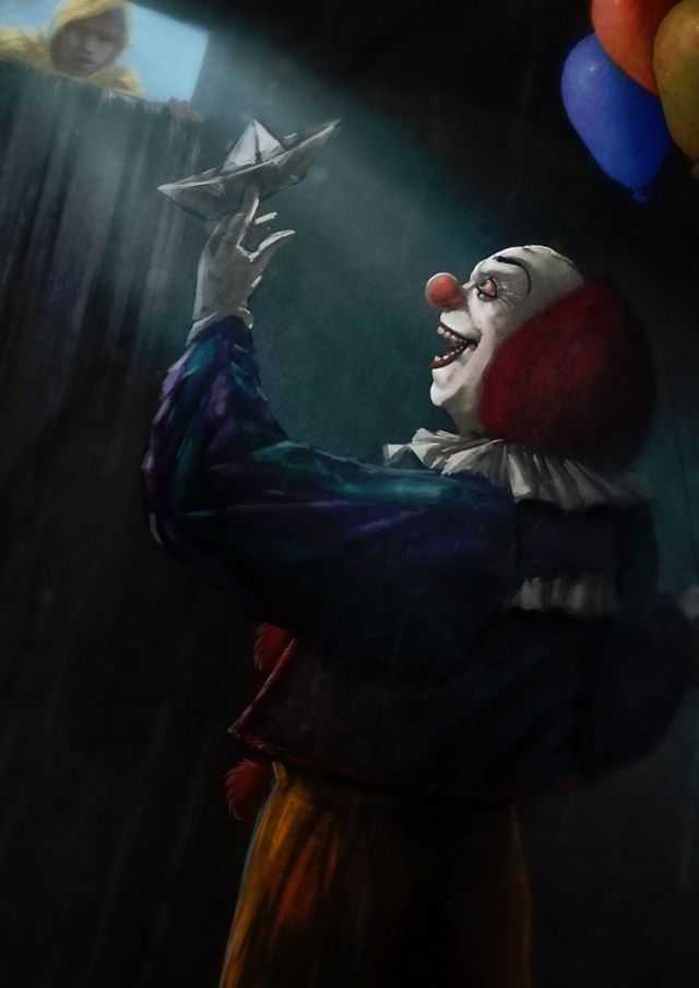 George and pennywise horror film fanatic pinterest for Killer clown movie