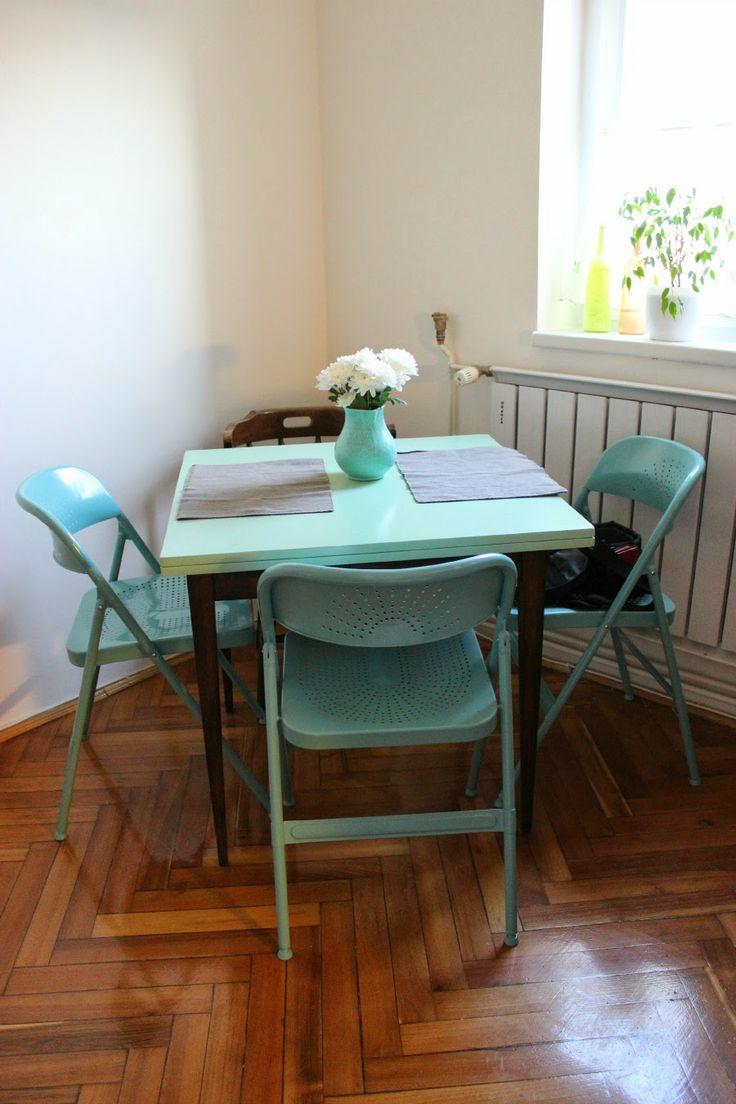 bewholed: + DIY duo-tone refurbished dining room table +
